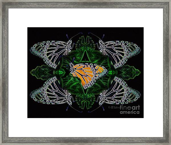 Butterfly Reflections 07 - Monarch Framed Print