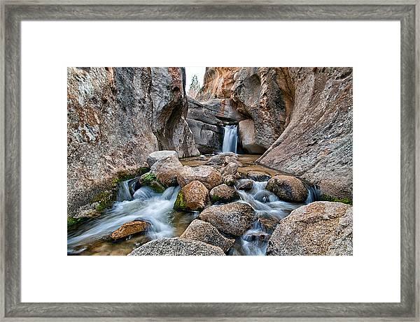 Buttermilks Waterfall Framed Print