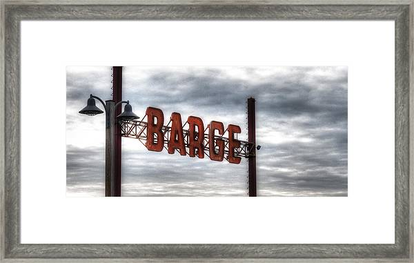 by The Barge Framed Print