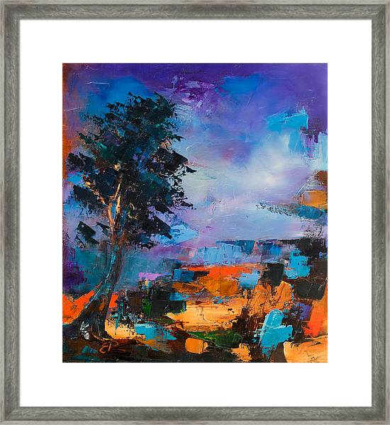 Framed Print featuring the painting By The Canyon by Elise Palmigiani
