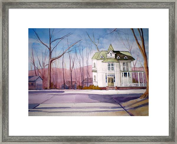 By The Water Tower Framed Print by Joe Lanni