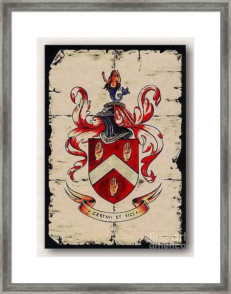 Byrne Coat Of Arms Framed Print