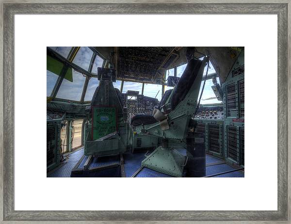 C-130 Cockpit Framed Print