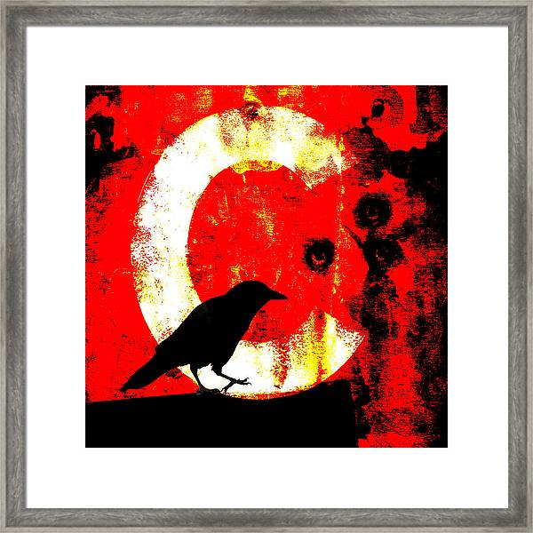 C Is For Crow Framed Print