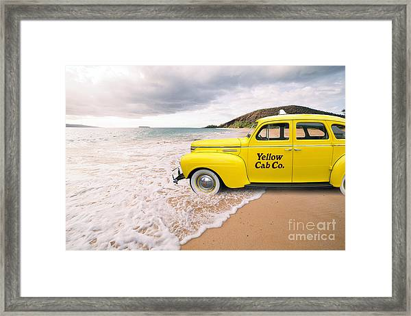 Framed Print featuring the photograph Cab Fare To Maui by Edward Fielding