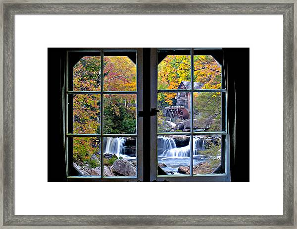 Framed Print featuring the photograph Cabin 11 At Babcock by Williams-Cairns Photography LLC
