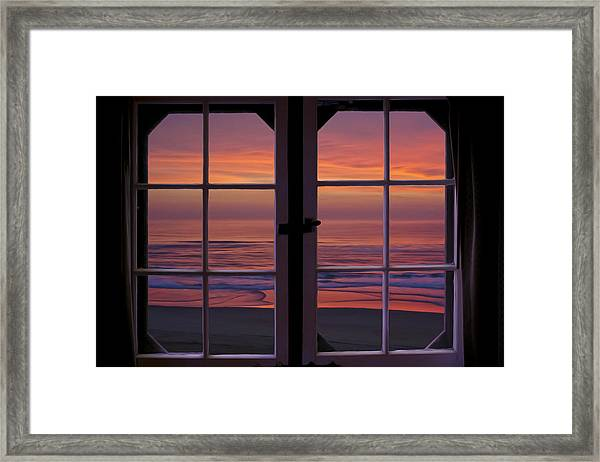 Cabin 11 At The Outer Banks Framed Print by Williams-Cairns Photography LLC