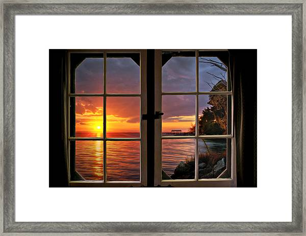 Cabin 11 On The James River Framed Print by Williams-Cairns Photography LLC