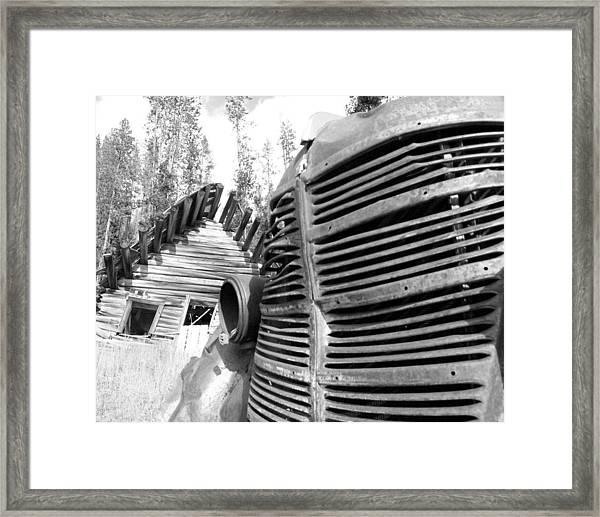 Cabin Grill Framed Print