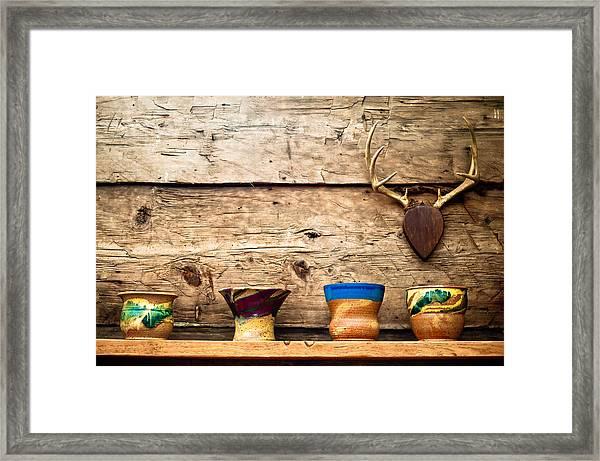 Cabin Pottery Framed Print