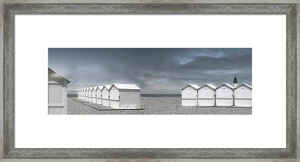 Cabins Beach Framed Print by Gilbert Claes