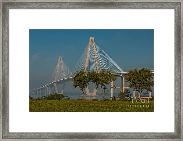 Cable Stayed Bridge Framed Print