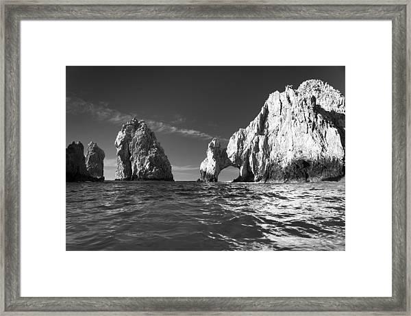 Cabo In Black And White Framed Print
