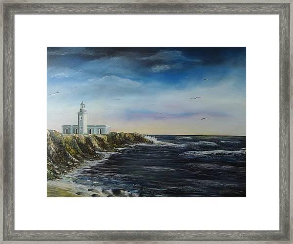 Cabo Rojo Lighthouse Framed Print