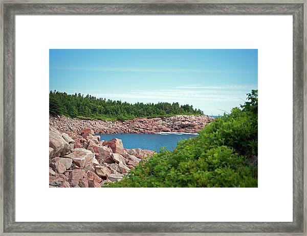 Cabot Trail Coastline Framed Print by Andalib