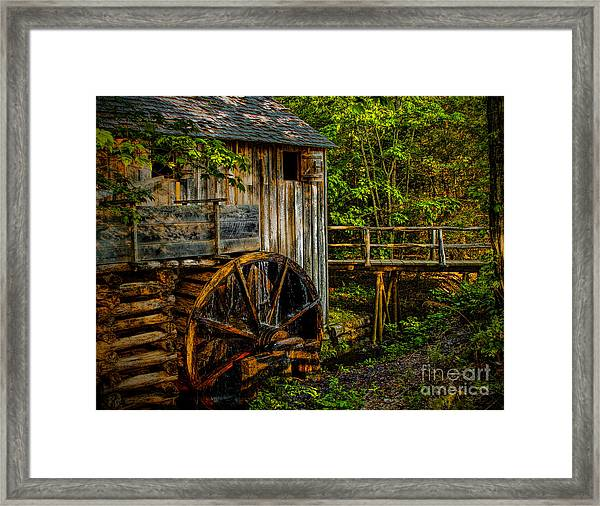 Cades Cove Mill Painted Framed Print