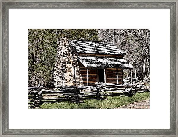 Cades Cove Old Cabin Art01 Framed Print