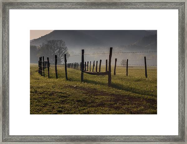 Cades Cove Sunrise Framed Print