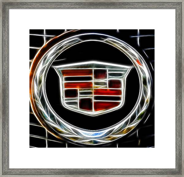 Cadillac Emblem B Framed Print