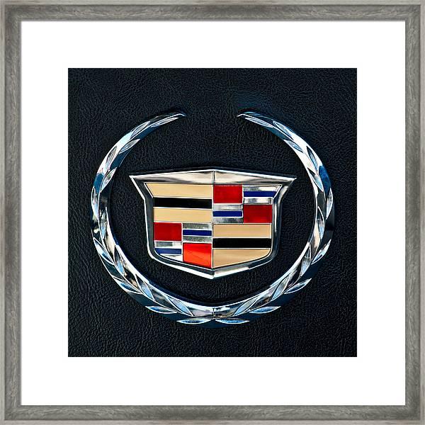 Cadillac Emblem Framed Print