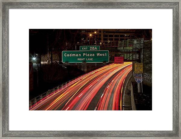 Cadman Plaza Night Framed Print