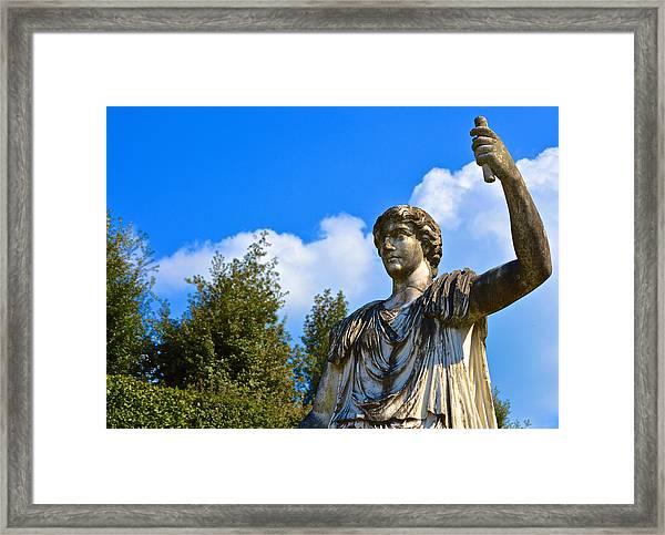 Caesar On Blue Sky Framed Print