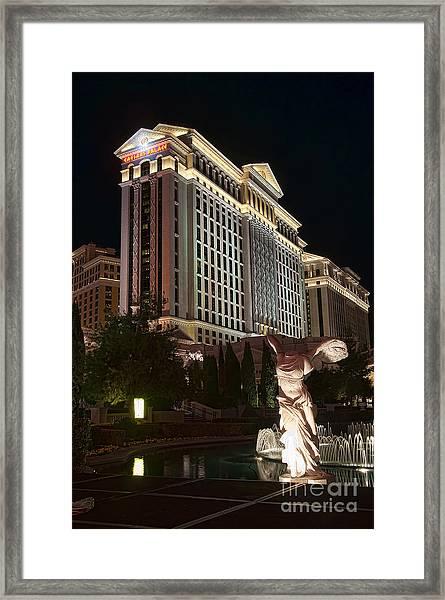 Caesar's Palace Framed Print by Eddie Yerkish