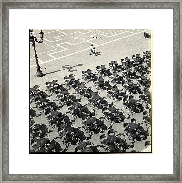 Cafe Florian In Venice Framed Print by Fritz Henle