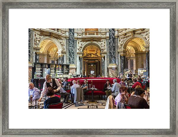 Cafe, Kunsthistorisches Historic Art Framed Print
