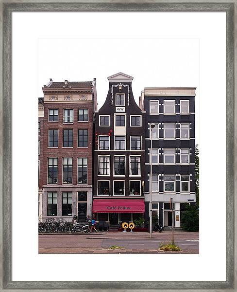 Cafe Pollux Amsterdam Framed Print