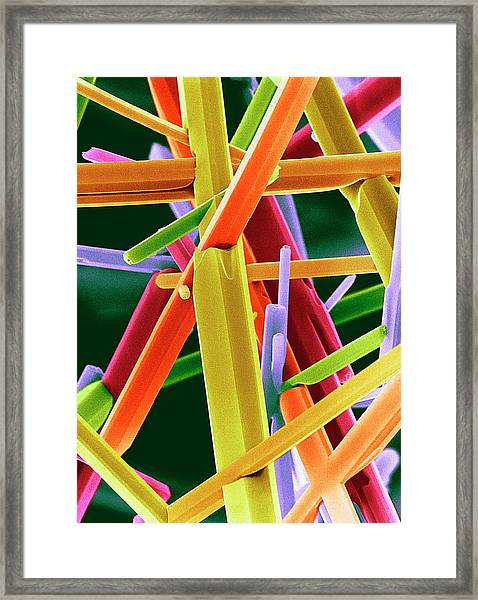 Caffeine Crystals Framed Print by Dr Jeremy Burgess
