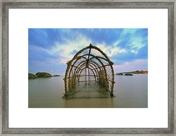 Cages With Fish Traps Framed Print