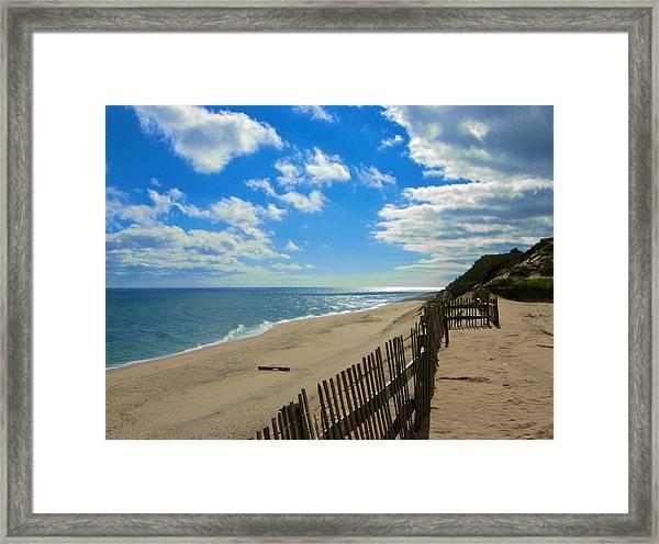 Cahoon Hollow Beach Framed Print