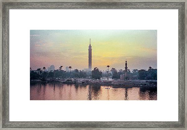 Cairo And The Nile Framed Print