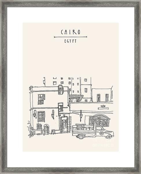 Cairo, Egypt, North Africa. A Man Framed Print