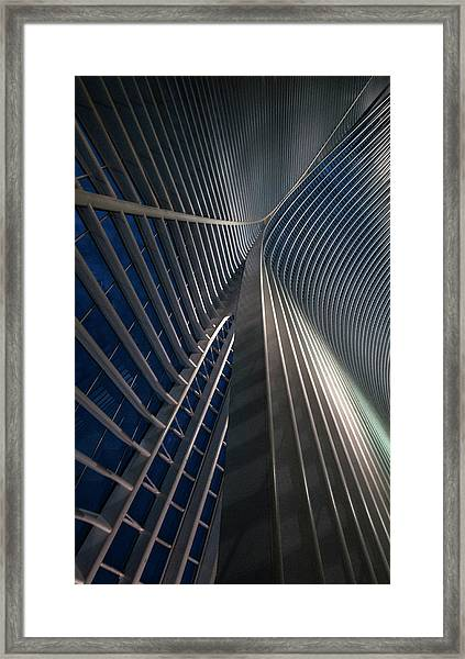 Calatrava Lines At The Blue Hour Framed Print by Jef Van Den