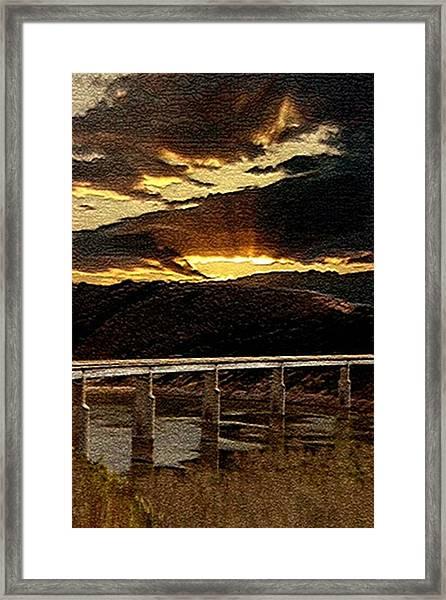 California Bridge Framed Print