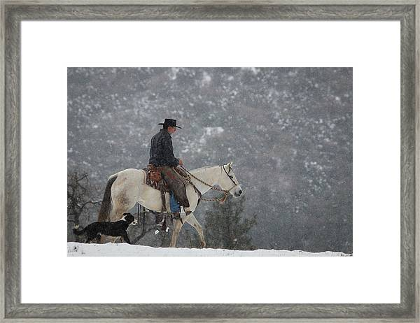 California Cold Framed Print