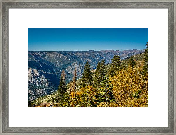 California Fall Framed Print