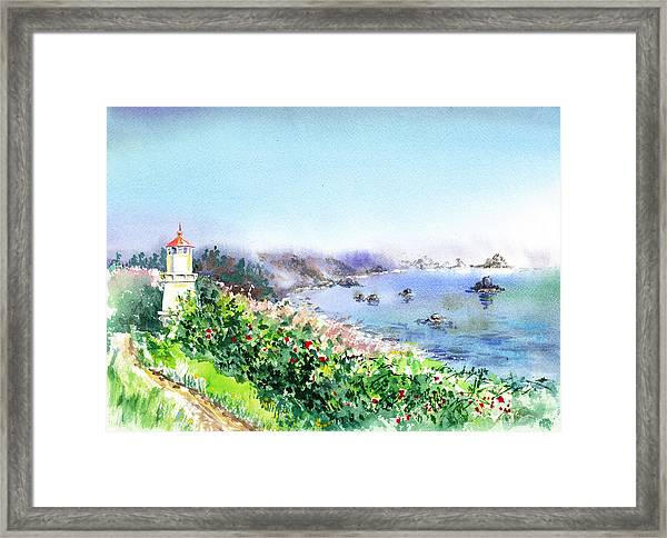 Lighthouse Trinidad California Framed Print