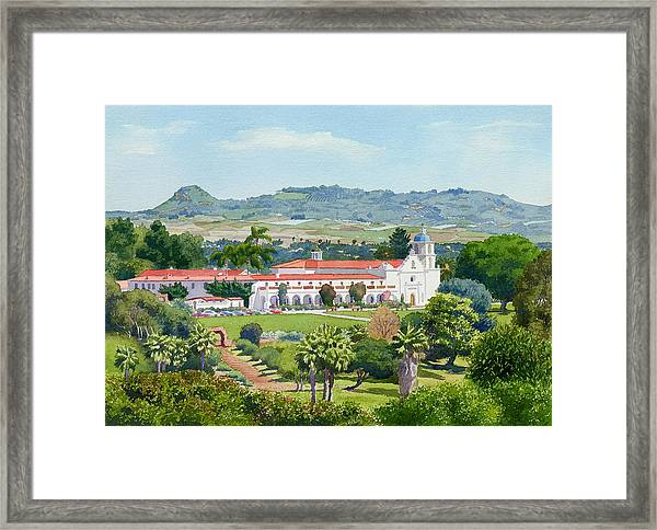California Mission San Luis Rey Framed Print