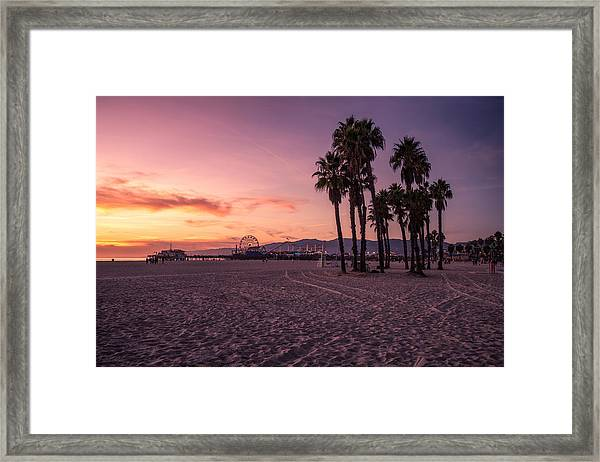 California Sunset At The Beach Framed Print by Dennis Fischer Photography