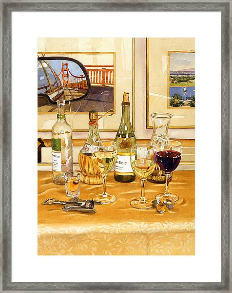 California Wine And Watercolors Framed Print