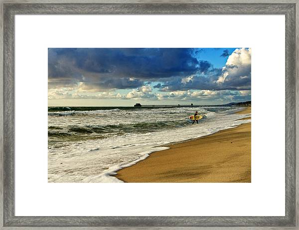 California's Stormy Surf  Framed Print by Donna Pagakis