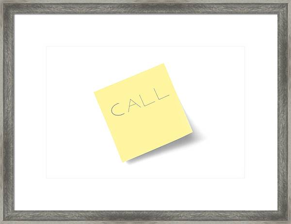 Call Note Framed Print by Macroworld