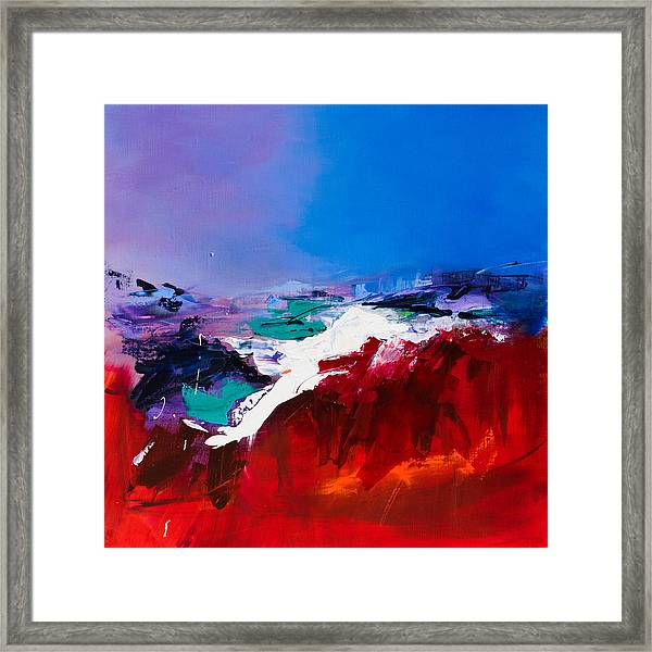 Framed Print featuring the painting Call Of The Canyon by Elise Palmigiani