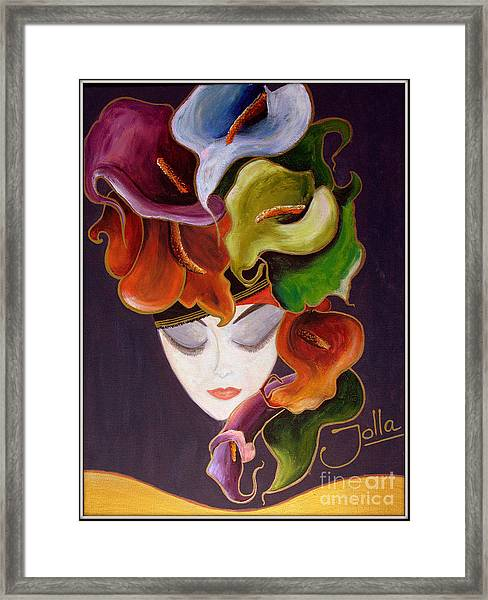 Calla Lily Dame.. Framed Print