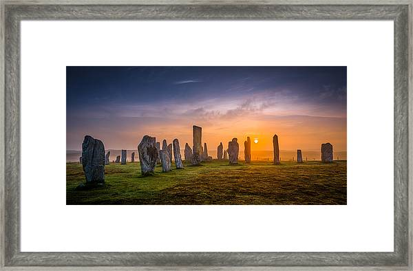 Callanish Dawn Framed Print