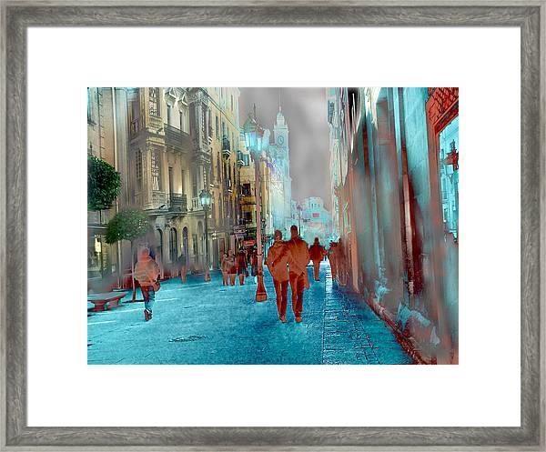 Calle Zamora De Salamanca Framed Print