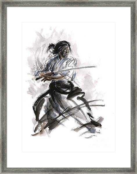 Calligraphy Style. Framed Print